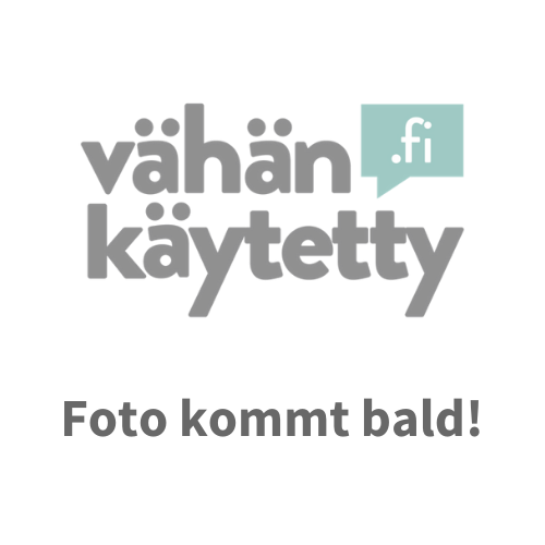 Marimekko, Alt, Blau getönt, Blumen, Brosche, Kunststoff, Größe 5,5 cm - Marimekko